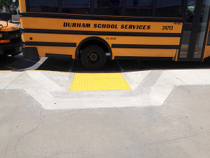 Spec. Ed. SAUSD Bus Blocks Access to Ramp.