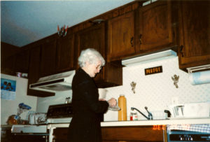 Mom in Warroad kitchen