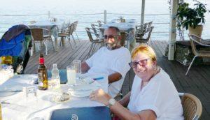 Trip - Joe and Di at Mitsos Taverna