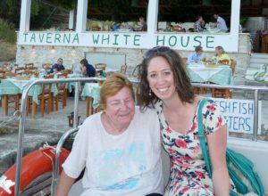 Trip - Di and Becka at the Taverna White House